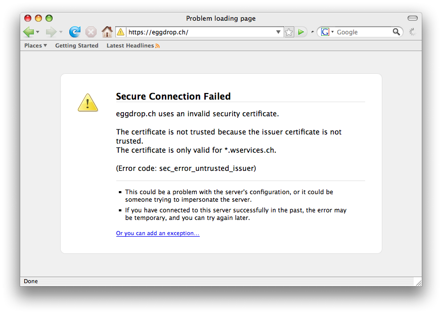 SSL in Firefox 3